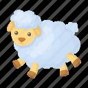 animal, comfort, rest, sheep, sleep, toy