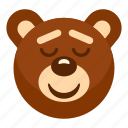 animal, bear, head, heart, sleeping, teddy, toy icon