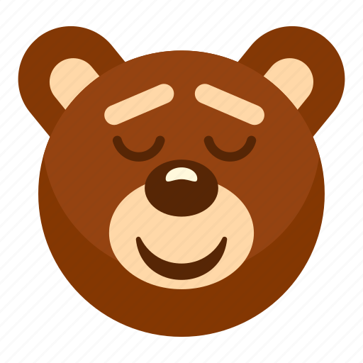 Animal, bear, head, heart, sleeping, teddy, toy icon - Download on Iconfinder