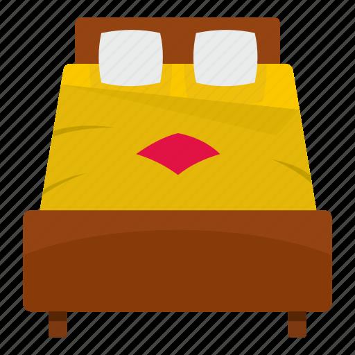 bed, bedroom, comfortable, indoor, interior, room, sheet icon