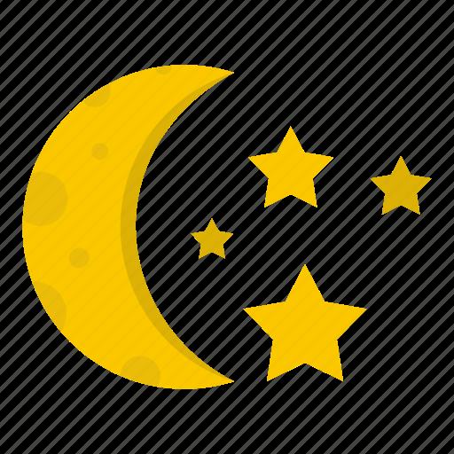 astronomy, moon, moonlight, night, sky, space, star icon