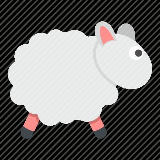 animal, cute, farm, lamb, sheep, sleep, wool icon