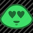 emoji, emoticon, love, slime icon