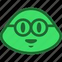 emoji, emoticon, nerd, slime icon