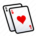 card, casino, gambling, heart, play, poker, slot icon