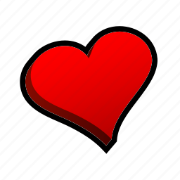 card, casino, game, hearts, poker, slot icon