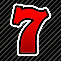 casino, gambling, game, numbers, poker, seven, slot icon