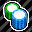 casino, coin, game, poker, slot, stack, token icon