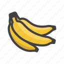 banana, bananas, fruit, fruit game, game icon