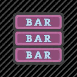 bar, bar slot machine, barrier, block icon