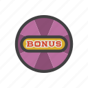 bonus, extra, payment, prize, reward, slot machine, tip icon