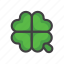 charm, clover, four-leaf, four-leaf clover, luck, slot machine icon