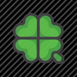 charm, clover, four-leaf, four-leaf clover, luck, slot machine icon