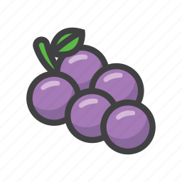 fruit, fruit game, game, grapes, slot machine icon