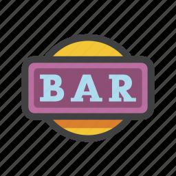 bar, bar symbol, logo, one, one bar, slot symbol icon