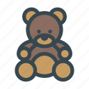 animal, baby, bear, teddy, toy
