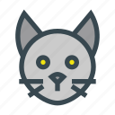 animal, cat, domestic, head, kitty, pet icon