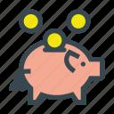 bank, coin, coins, money, piggy, piggybank, savings