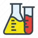 beaker, chemical, chemistry, experiment, flask, science, test tube icon