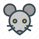 animal, head, mammal, mice, mouse icon