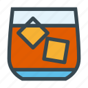 cube, cup, glass, ice, whiskey icon