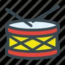 drum, instrument, music, percussion, sticks icon