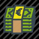 bill, bills, currency, euro, money, stack