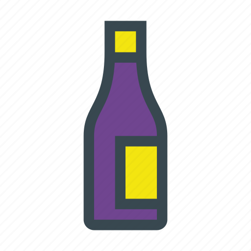 alcohol, bottle, drink, glass, wine icon