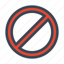 ban, blocked, cancel, forbidden, lock, prohibited icon