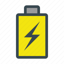 battery, charged, electricity, energy, power icon