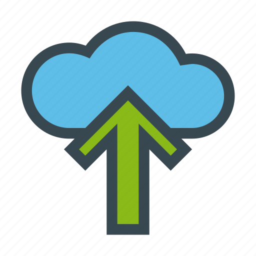cloud, server, storage, up, upload icon