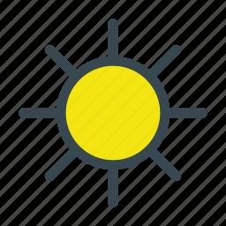 heat, light, sun, sunny, weather icon