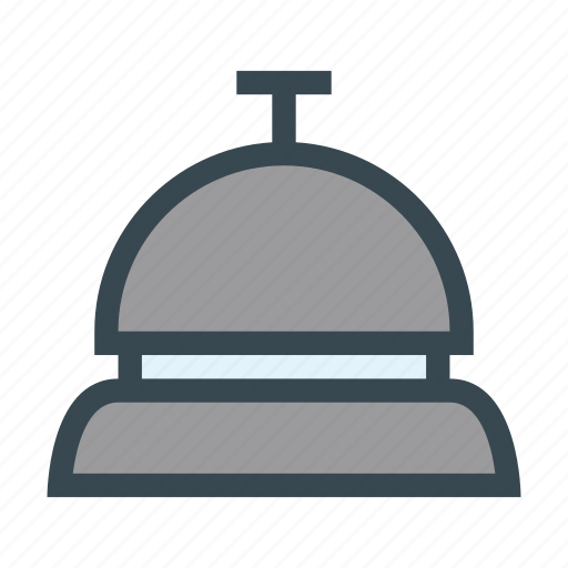 alert, bell, counter, reception, ring icon