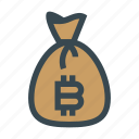 bag, bank, bitcoin, financial, money, profit