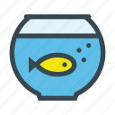 aquarium, aquatic, bowl, fish, pet icon