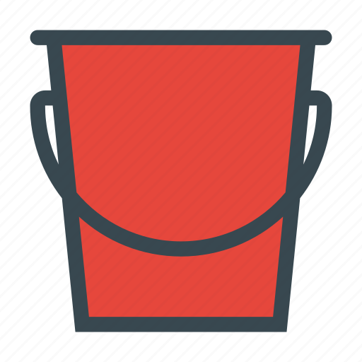 bucket, can, container, plastic icon