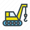 build, construction, crane, lifter, machine icon