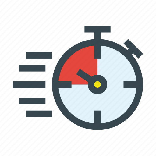 fast, run, stopwatch, time, timer icon