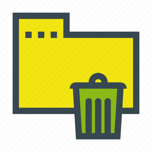 bin, file, folder, recycle, send icon