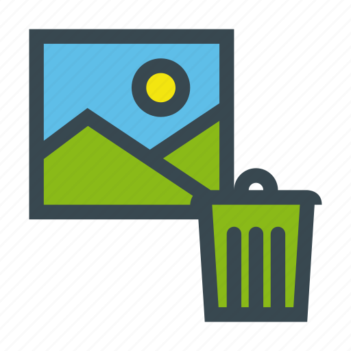 bin, file, image, photo, recycle, send icon
