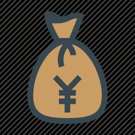 bag, bank, financial, money, profit, yen icon