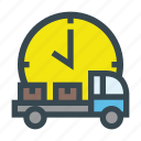 boxes, delivery, packages, pickup, shipment, time, truck