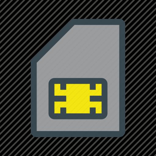 card, mobile, phone, sim, smartphone icon