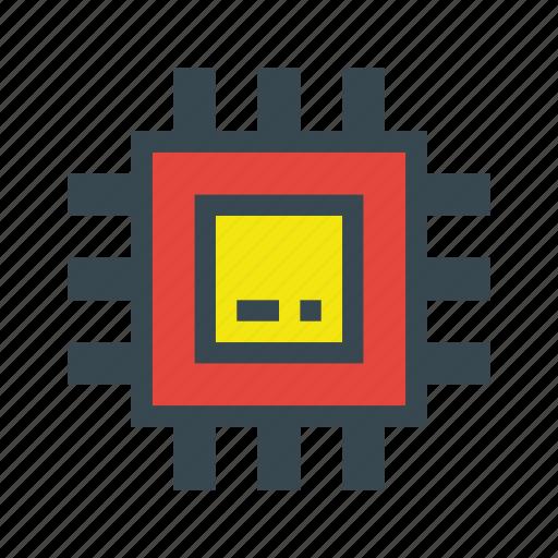 chip, computer, hardware, laptop, pc, processor icon