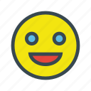 emoticon, face, happy, smile, sticker icon