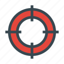 aim, arrow, bullseye, crossair, goal, target icon
