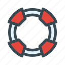 flotation, help, lifebuoy, lifeguard, support icon