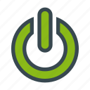 off, on, reset, restart icon