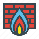 bricks, fire, firewall, internet, security, wall icon