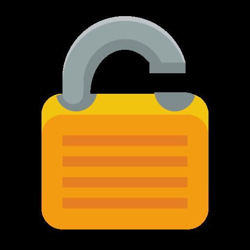 lock, open icon